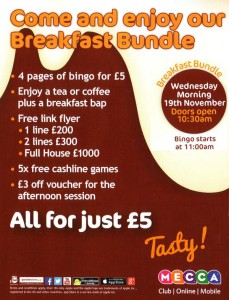Mecca bingo breakfast Bundle