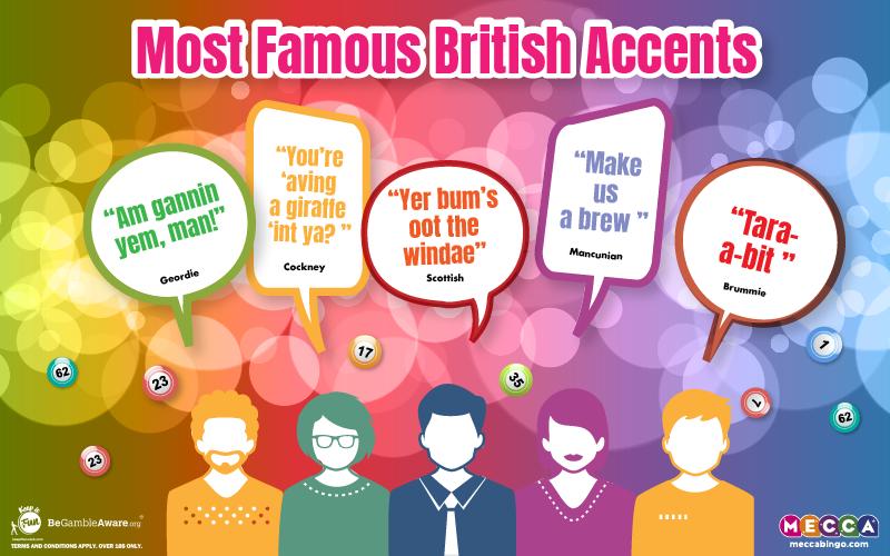 Most Famous British Accents - Mecca Bingo