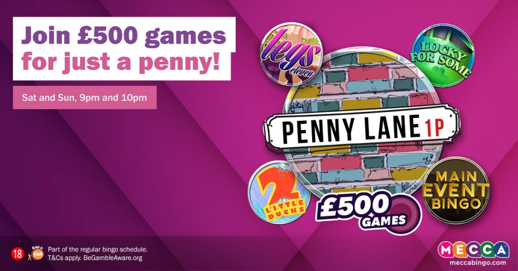 Penny Lane promotion - Mecca Bingo